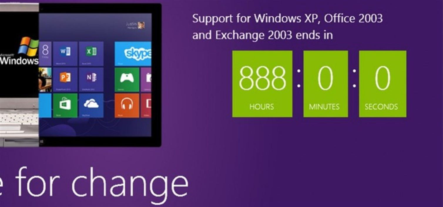 888 horas para el fin de Windows Xp